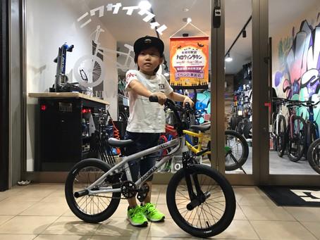 【BMX】自転車デビューに選んだバイクは、、、16インチキッズBMX!決め手は、ハンドルを回したい!!