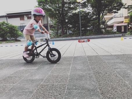 ★最年少4歳のカワイイ生徒さん★3歳からトライできるBMXスクール!!
