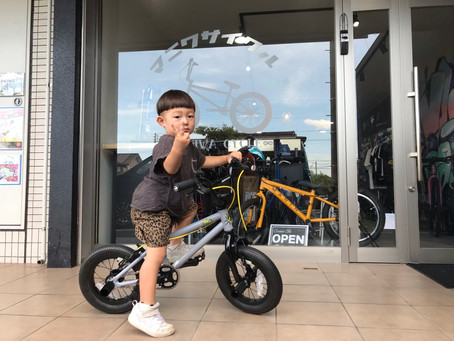 ★3歳のBMXデビュー★初めての自転車はパパと同じバイク!!