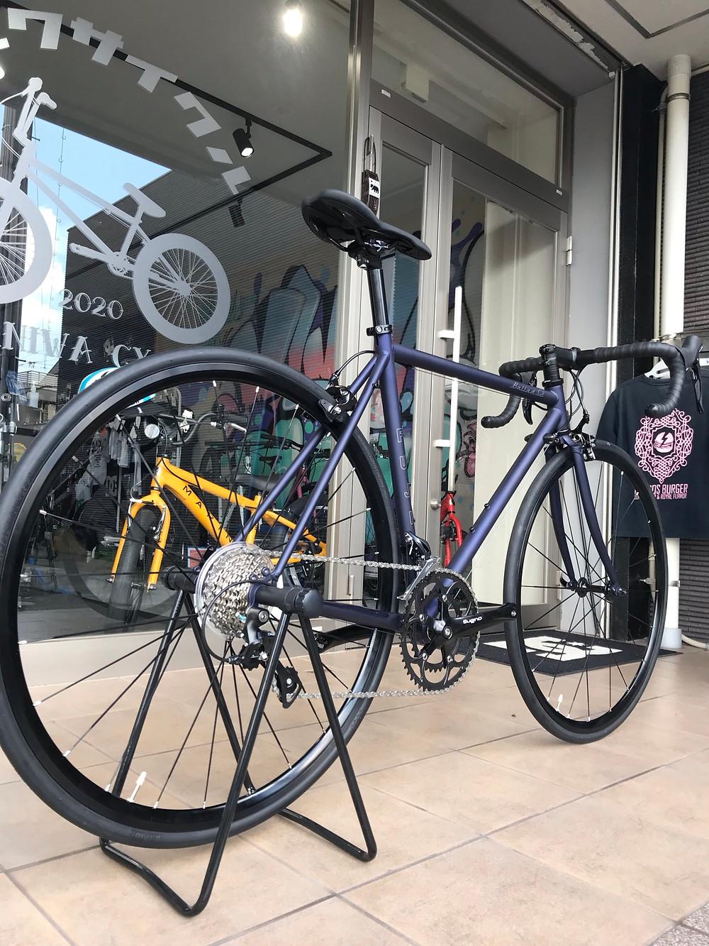 愛知県/知多半島/東海市/ロードバイク/FUJI/BALLADΩ/クロモリ