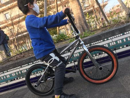 ★自転車教室★補助輪付きしか乗ったことのないキッズがペダリングを習得!!