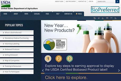 USDA BioPreferred Program opening page p