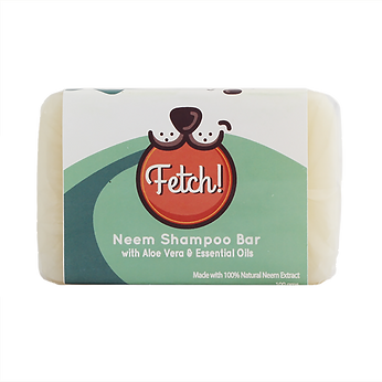 Fetch! Neem Natural Shampoo that moisturizes, rids of ticks & fleas, heals skin allergies, mange, and hotspots, and geantly cleanses. Great for dogs & cats with sensitive skin. Coconut oil, aloe vera, and other ssential oils were added to help strengthen fur and strands. FDA registered making it a safe to use for humans too!