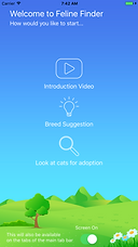Feline Finder iOS Title Screen