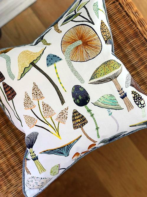 Golden Mushroom Cushion Cover