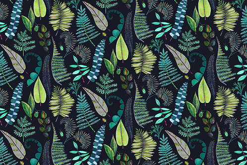 'Moonlit Ferns' fabric by the meter