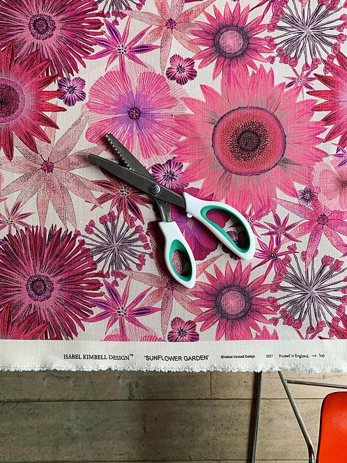 Sunflower Garden Fabric in Rhubarb