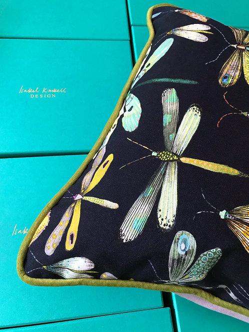 'Charcoal Dragonflies' Cushion
