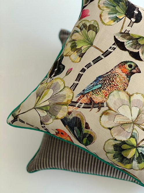 Finch Garden Cushion Cover in Dawn