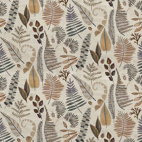 'Amber Ferns' fabric by the meter