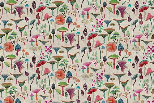 'Magic Mushrooms' fabric by the meter