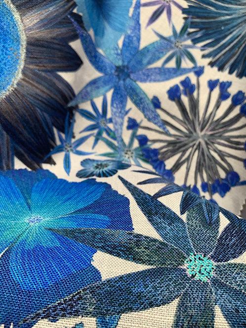 Sunflower Garden Fabric in Cobalt