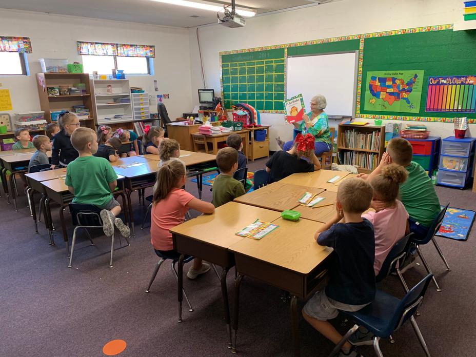 Mother Goose Visits First Grade