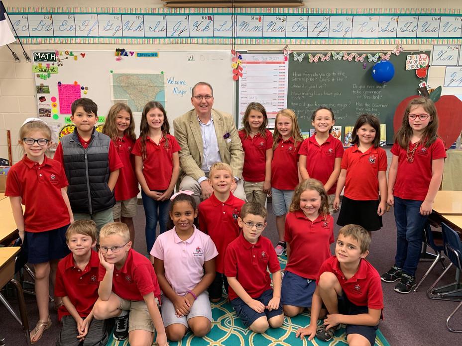 Mayor Osbon Visits Second Grade