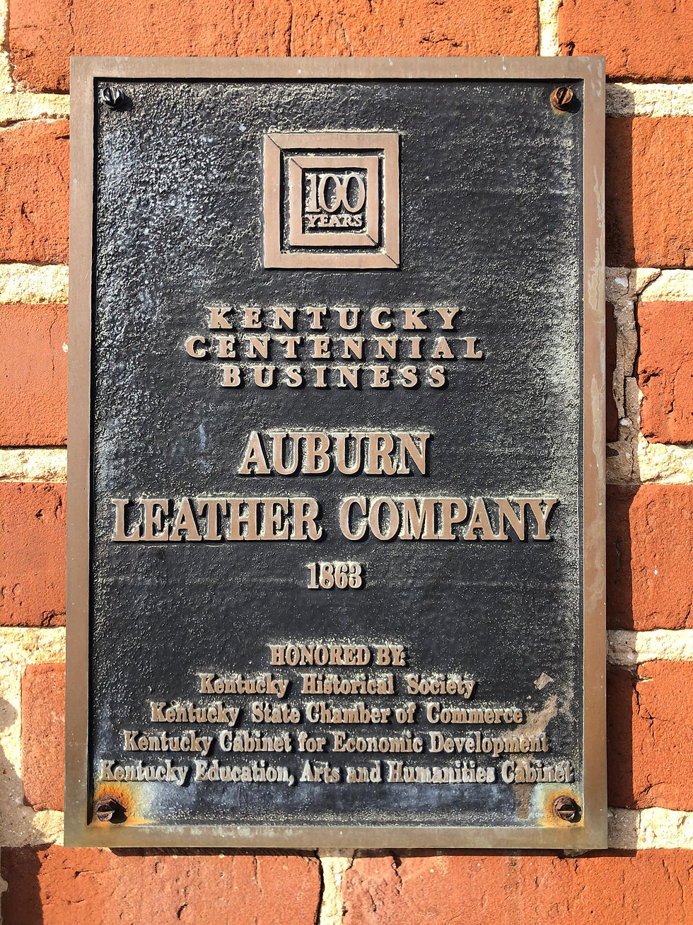 Auburn Leather Compay 1868 Packaging Manufacturing Fu