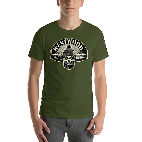 """""""Bearded Skull"""" Unisex T-Shirt"""