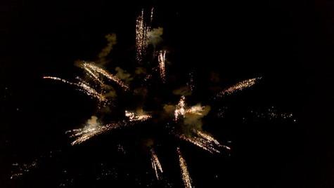 Drône feux d'artifices à la Colle Noire