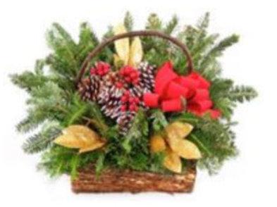 Decorative Winter Basket