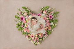 Isabella pink floral heart
