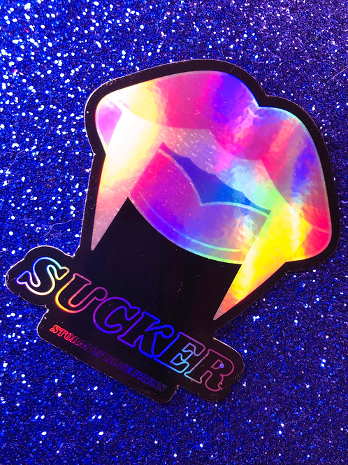 """sucker"" holographic sticker (halloween collection 2020)"