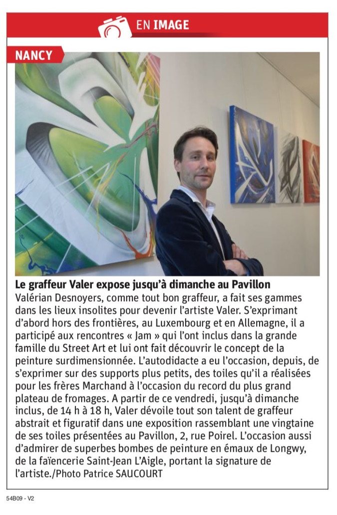 Nancy : le graffeur Valer expose