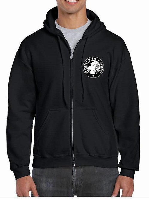 """Pretties for Pitties """"Be the Voice"""" Zipped Hoodie"""