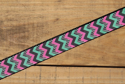 Teal And Pink Chevron