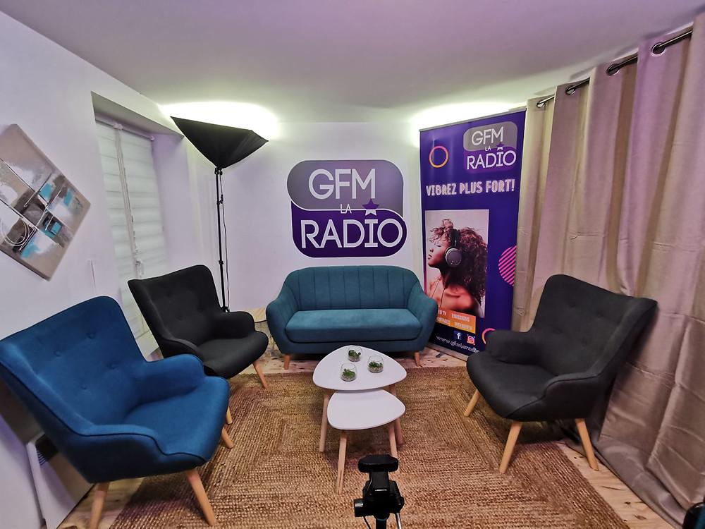 Studio de radio te TV à Meaux sur GFM LA RADIO