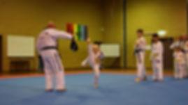 Training at Knox Taekwondo Academy