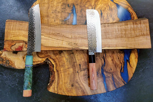 9 Knife Spalted ripple Maple Magnet board