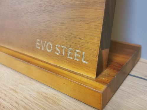 Evo Steel Acacia free standing Magnetic 4 knife holder