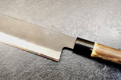 """Tsukasa Hinoura White steel No 1 165mm (6.6"""") Kurouchi Nakiri"""