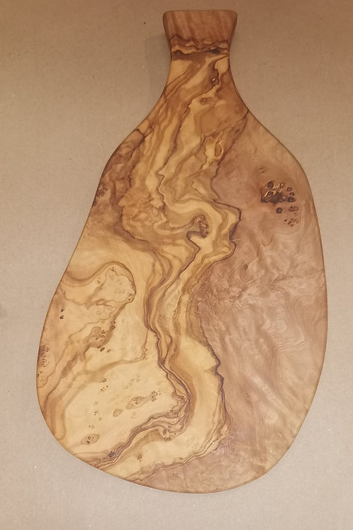 Small Tunisian Olive wood chopping/herb board with handle Aprox 30 cm x 20cm