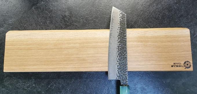 Oak 8 Knife Magnet board, wall hung