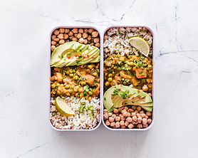 flat-lay-photography-of-two-tray-of-food