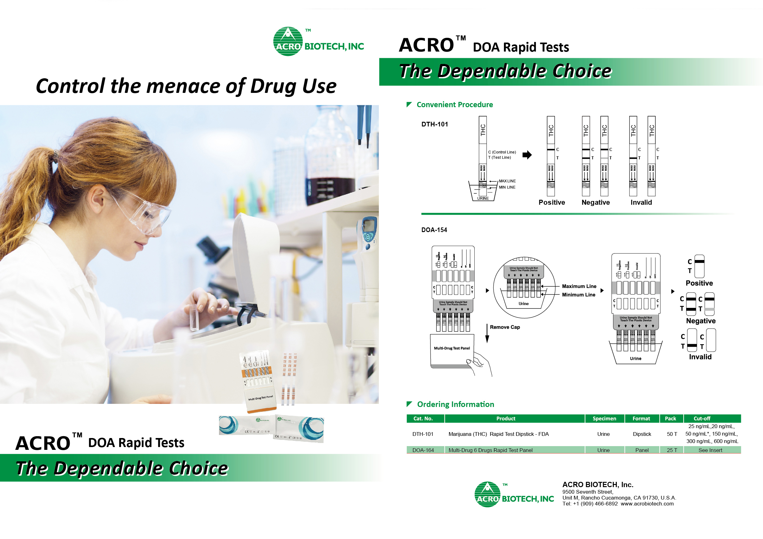Control the menace of Drug Use & Abuse with our Wide-Range