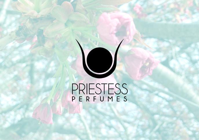 Priestess Perfume logo for Cocoon Apothecary