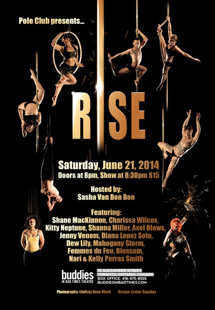 Rise show promotional poster