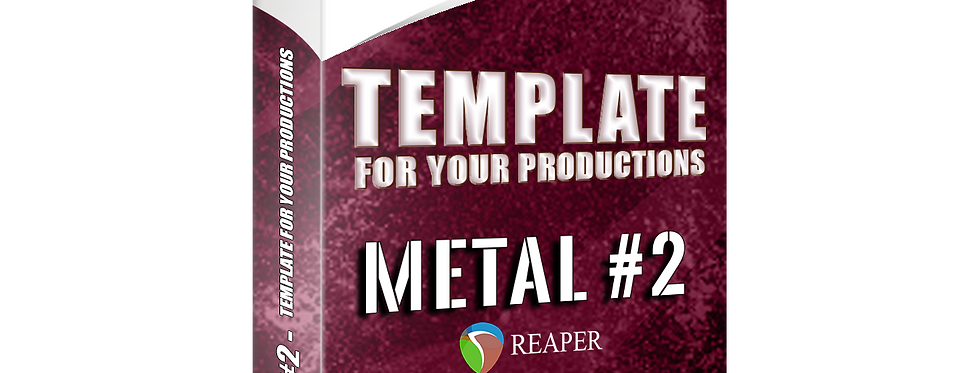 METAL #2 - Template For Your Productions (Reaper 6 FREE STOCK PLUGINS)
