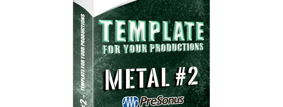 METAL #2 - Template For Your Productions (Studio One 4 FREE STOCK PLUGINS)