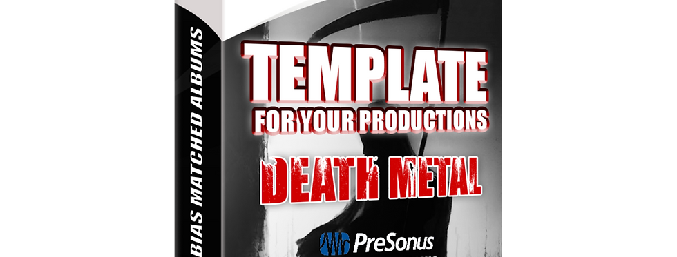 Template For Your Productions - DEATH METAL (Studio One Version)