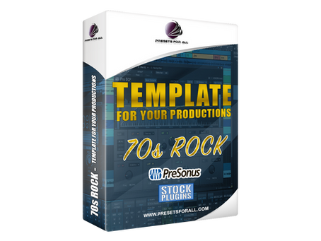 70s ROCK - Template for Your Productions - Studio One 5 STOCK PLUGINS