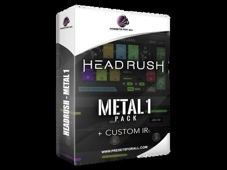 FIRST HEADRUSH PRESETS PACK - METAL 1