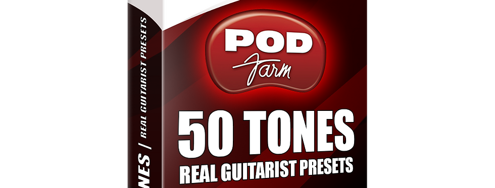 50 TONES | POD Farm Real Guitarist Presets Pack