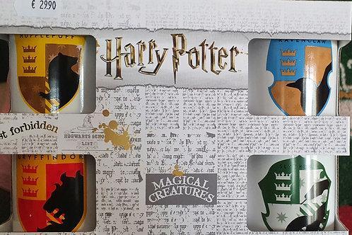 Conjuntos 4 Canecas café Harry Potter