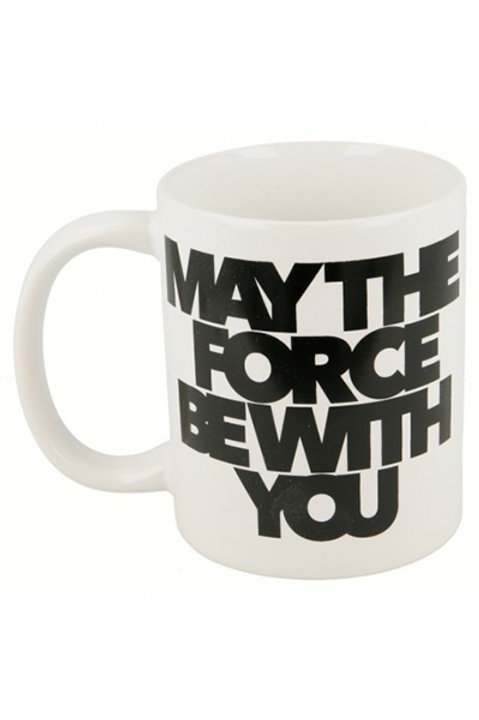 Caneca ceramica c/cx 325ml May the force be with ?