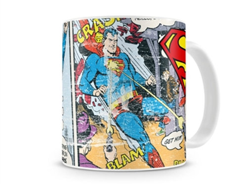Superman Distressed Comic Strip Coffee Mug