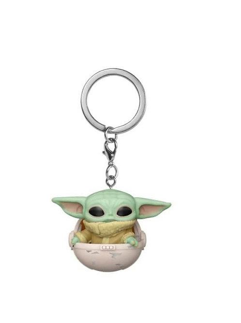 Baby Yoda no Cesto KeyChain FunkoPOP