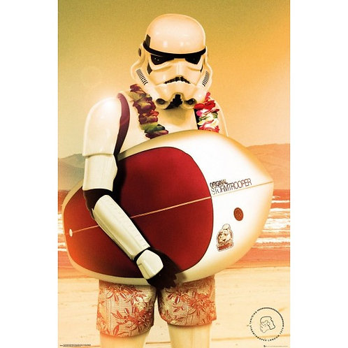 POSTER STAR WARS STORMTROOPER SURF
