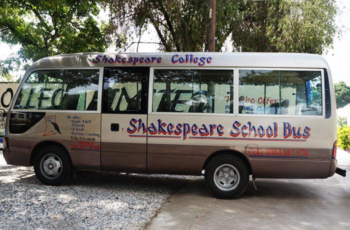 Shakespeare College bus